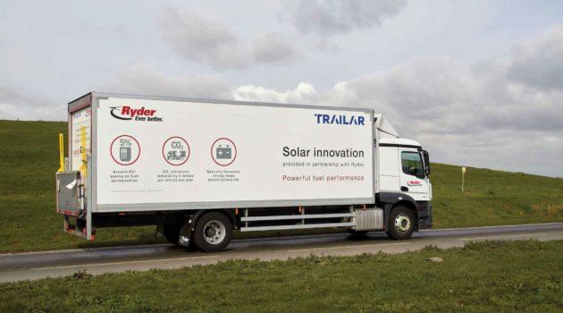 Ryder Offers Fuel Saving Solar Supported Rigid Trucks