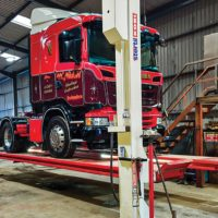 Four Post Vehicle Lift Replaces Inspection Pit
