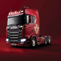 Scania Celebrates V8's Golden Anniversary