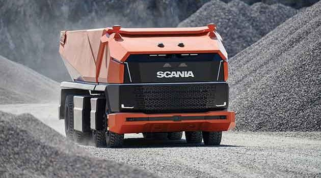 Cabless Scania